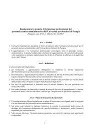 Regolamento in materia di formazione professionale del - NeoOffice ...