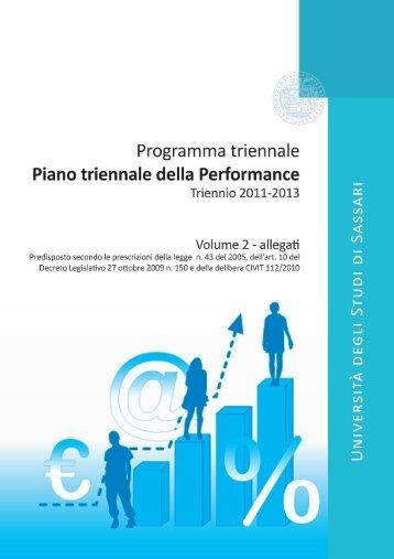 Piano triennale della Performance - Università degli Studi di Sassari