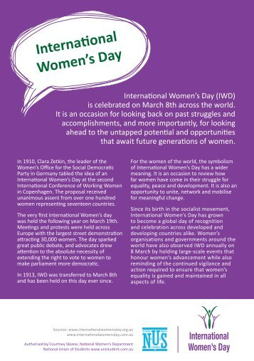 Interna(onal Women's Day - National Union of Students