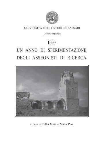 1999, Un anno di sperimentazione degli assegnisti di ricerca