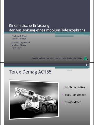 Terex Demag AC155 - Universität Stuttgart