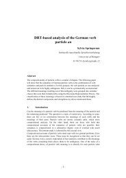 DRT-based analysis of the German verb particle an