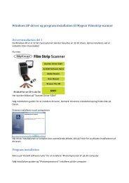 Windows XP driver og program installation til Mygear ... - Unisupport