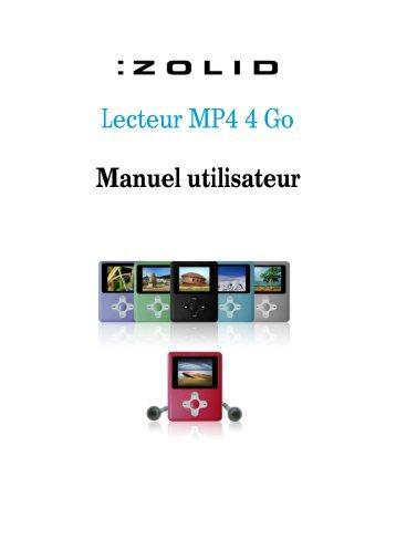 Lecteur MP4 4 Go Manuel utilisateur - Unisupport