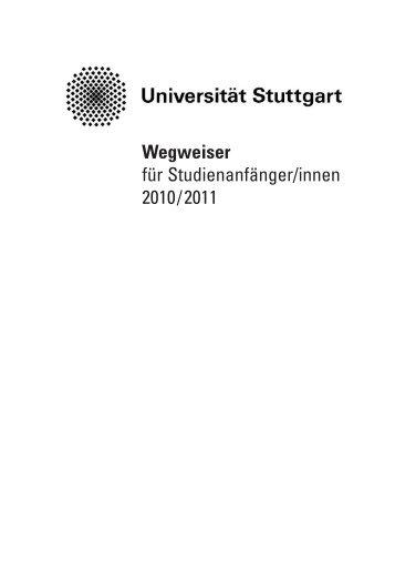 wegweiser 2010-2011 - Universität Stuttgart