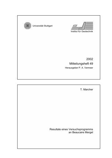 2002 Mitteilungsheft 49 - Universität Stuttgart