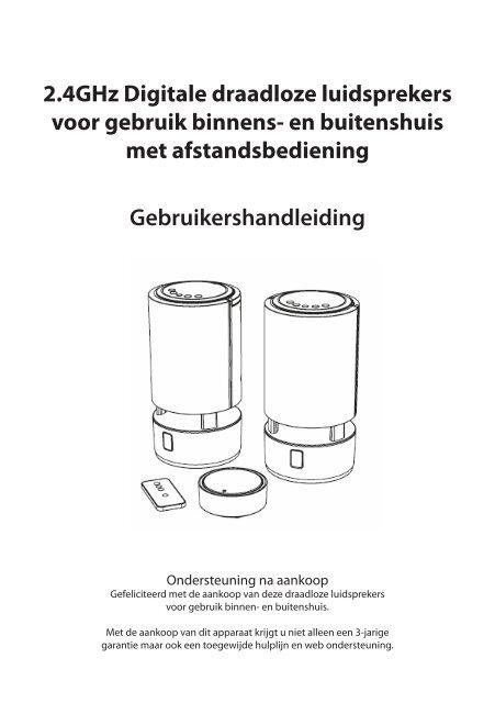 Gebruikershandleiding 2.4GHz Digitale draadloze ... - Unisupport