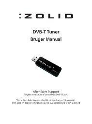 Bruger Manual DVB-T Tuner - Unisupport