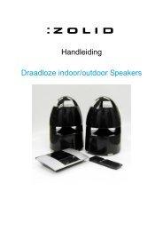Handleiding Draadloze indoor/outdoor Speakers - Unisupport
