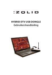 Gebruikershandleiding Hybrid dTV USb dongle - Unisupport