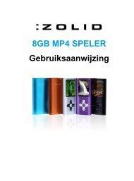 8GB MP4 SPELER Gebruiksaanwijzing - Unisupport