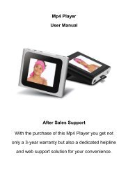Mp4 Player User Manual After Sales Support With the ... - Unisupport