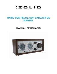 RADIO CON RELOJ. CON CARCASA DE MADERA ... - Unisupport