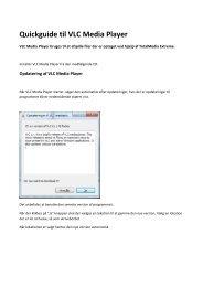 Quickguide til VLC Media Player - Unisupport