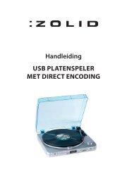 Handleiding USB PLATENSPELER MET DIRECT ... - Unisupport