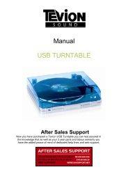 Manual USB TURNTABLE - Unisupport