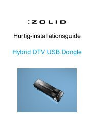 Hurtig-installationsguide Hybrid DTV USB Dongle - Unisupport