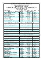 Scarica il calendario delle lezioni (29 KB) - Università degli Studi di ...