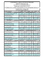 Scarica il calendario delle lezioni (21 KB) - Università degli Studi di ...