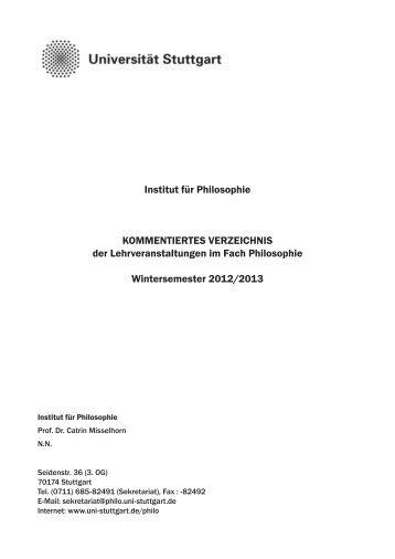 Wintersemester 2012/2013 - Universität Stuttgart