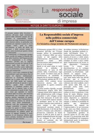 Newsletter n.11 - Università degli Studi di Teramo