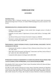 Scarica il CV (383 KB) - Università degli Studi di Teramo