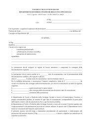 Affidamento incarico - Università degli Studi di Teramo