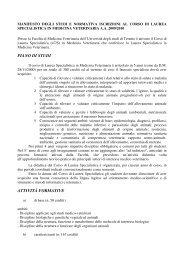 Manifesto degli Studi (51 KB) - Università degli Studi di Teramo