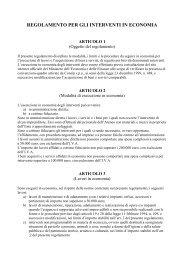 regolamento per gli interventi in economia - Università degli Studi di ...