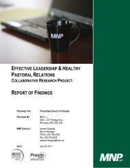 Collaborative Research Report - The United Church of Canada