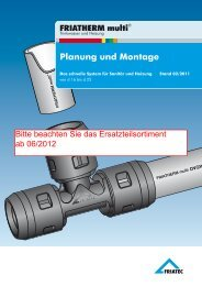 FRIATHERM multi Planung und Montage 02-2011 - Friatec AG