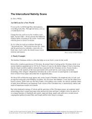 The Intercultural Nativity Scene - The United Church of Canada