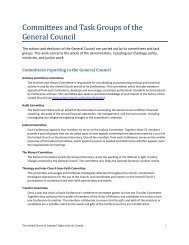 Committees and Task Groups of the General Council - The United ...