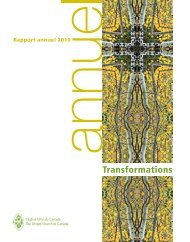 Rapport annuel 2010 - The United Church of Canada