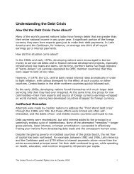 Understanding the Debt Crisis - The United Church of Canada