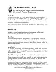 Understanding the Sabbatical Policy for Ministry Personnel in ...