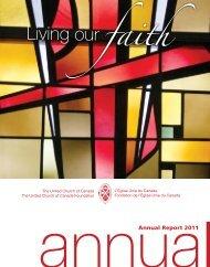 Annual Report 2011 - The United Church of Canada