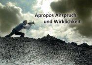 Apropos Anspruch und Wirklichkeit - United communications GmbH ...