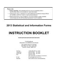 2012 Instruction Booklet - The United Church of Canada