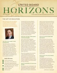 THE GIFT OF EDUCATION - United Board for Christian Higher ...