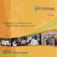 2011-2012 - United Board for Christian Higher Education in Asia