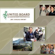 2010-2011 - United Board for Christian Higher Education in Asia
