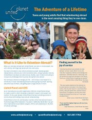 Download the flyer for teens and parents - United Planet