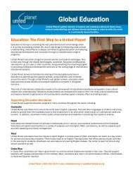 brochure about teaching abroad - United Planet