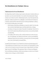 Die Rehabilitation bei Multipler Sklerose - in Friedehorst
