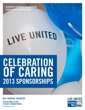 to download the Celebration of Caring Sponsorship packet.
