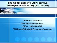 The Good, Bad and Ugly: Survival Strategies in Home Oxygen ...