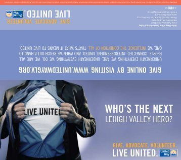 WHO'S THE NEXT - United Way of the Greater Lehigh Valley