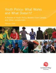 Youth Policy: What works and what doesn't? - United Way Toronto