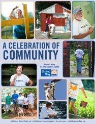 Celebrating Community Report 2012 - the United Way of Windham ...